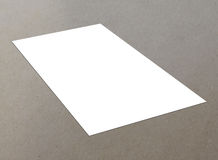 Blank white single flyer. Blank white paper A4 flyer on floor,  single flyer Stock Image