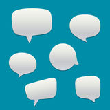Blank  white speech bubbles Stock Photos