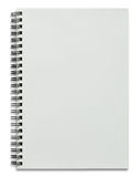 Blank white spiral notebook isolated Stock Image