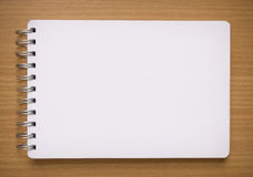 Blank white spiral notebook Royalty Free Stock Image