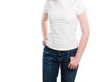 Blank White T-shirt with Copyspace Royalty Free Stock Photos