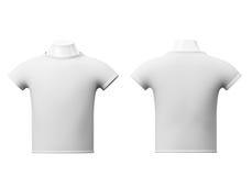 Blank white t-shirt isolated on white background Royalty Free Stock Photo