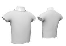Blank white t-shirt isolated on white background Royalty Free Stock Photos