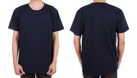 Blank white t-shirt set on man Stock Image