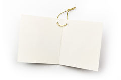 Blank White Tag Royalty Free Stock Photos