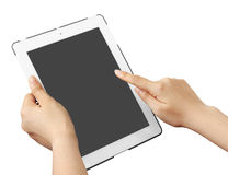 Blank white  touch pad tablet Royalty Free Stock Photography