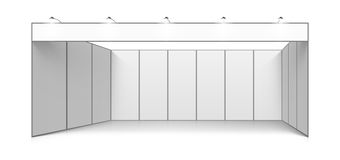 Blank white trade exhibition booth system stand royalty free illustration