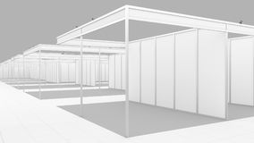 Blank white trade exhibition booth system stand. Mockup. Blank white trade exhibition booth system stand for your design vector illustration
