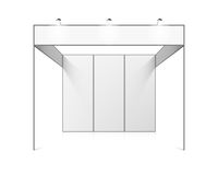 Blank white trade exhibition stand vector illustration