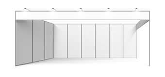 Blank white trade exhibition stand Stock Photo