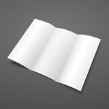Blank white tri fold vector brochure template. Royalty Free Stock Photography