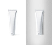 Blank white tube design mockup set, , clipping path. Stock Image