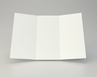Blank white unfolded A4 paper crumpled. 3d rendering.  Stock Photo