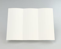 Blank white unfolded A4 paper crumpled. 3d rendering.  Stock Photography