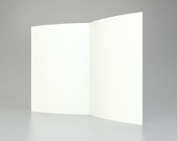Blank white unfolded A4 paper crumpled. 3d rendering.  Royalty Free Stock Photography