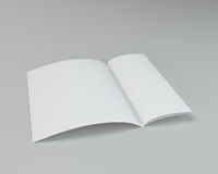 Blank white unfolded A4 paper crumpled. 3d rendering.  Royalty Free Stock Image