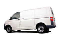 Blank white van Royalty Free Stock Photos