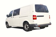 Blank white van Royalty Free Stock Image