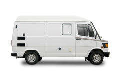 Blank white van Royalty Free Stock Images