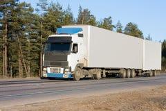 Blank white van truck Stock Photo