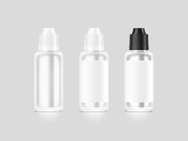 Blank white vape liquid bottle mockup isolated, clipping path, Royalty Free Stock Photography