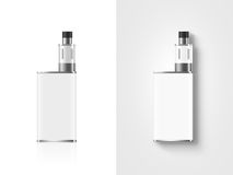 Blank white vape mod box mockup isolated, clipping path, stand Royalty Free Stock Photography