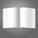 Blank white vector opened book, magazine or photo Royalty Free Stock Photo