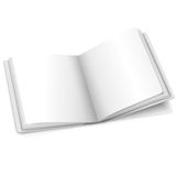 Blank white vector opened book or photo album for Stock Photos