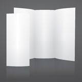 Blank white vector tri fold brochure template Stock Image