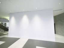 Blank white wall Stock Image