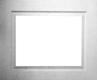 Blank white wood frame Royalty Free Stock Photo
