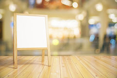 Blank white wooden blackboard for restaurant menu Stock Photography