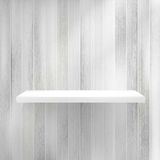 Blank white wooden bookshelf. + EPS10 Royalty Free Stock Images