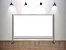 Blank whiteboard Royalty Free Stock Image