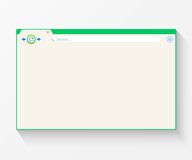 Blank window of internet browser Royalty Free Stock Photography