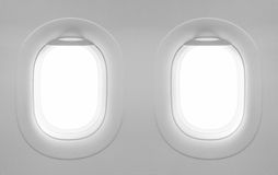 2 blank window plane. Royalty Free Stock Photos