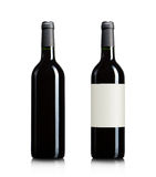 Blank wine bottles Royalty Free Stock Photos