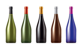 Blank Wine package set Stock Photography