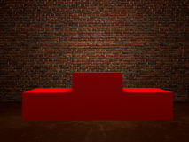 Blank winners red podium in room Royalty Free Stock Photo