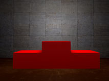Blank winners red podium in room Royalty Free Stock Image