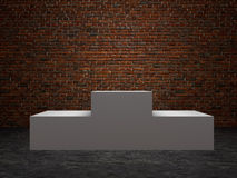 Blank winners white podium in room Royalty Free Stock Photography