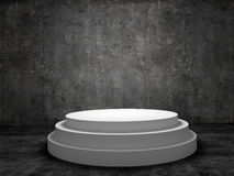 Blank winners white podium in room Stock Images