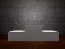 Blank winners white podium in room Royalty Free Stock Photo