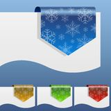 Blank winter discount labels stock illustration