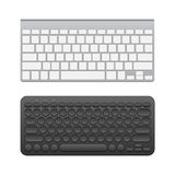 Blank wireless keyboards Royalty Free Stock Photography