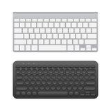 Blank wireless keyboards Royalty Free Stock Photography