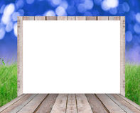 Blank wood billboard  for new advertisement Stock Photos