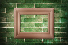 Blank wood frame Stock Images