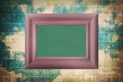 Blank wood frame blackboard Royalty Free Stock Photos