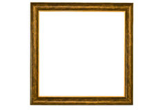 Blank Wood Frame With gold Trim Royalty Free Stock Photography